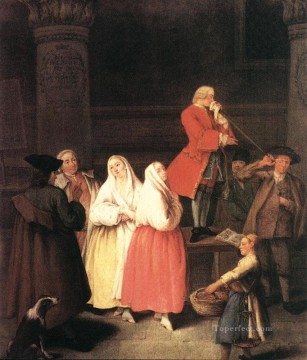 Pietro Longhi Painting - The Soothsayer life scenes Pietro Longhi