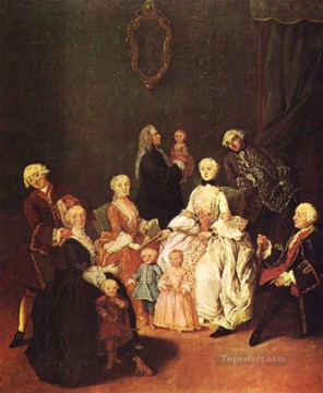Pietro Longhi Painting - Patrician Family life scenes Pietro Longhi