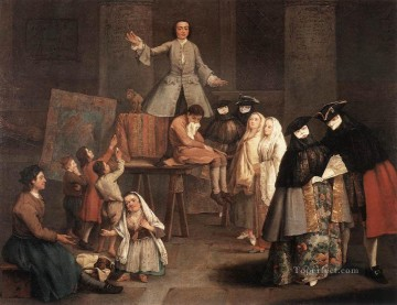Pietro Longhi Painting - The Tooth Puller life scenes Pietro Longhi