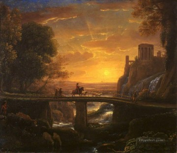 Claude Lorrain Painting - Imaginary View of Tivoli landscape Claude Lorrain