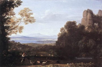 Claude Lorrain Painting - Landscape with Apollo and Mercury Claude Lorrain