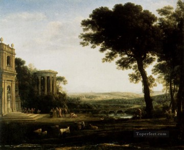 Lorrain Art Painting - Landscape With A Sacrifice To Apollo Claude Lorrain