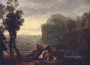 Lorrain Art Painting - Landscape with Acis and Galathe Claude Lorrain