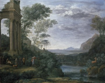 Lorrain Art Painting - Landscape with Ascanius Shooting the Stag of Sylvia Claude Lorrain