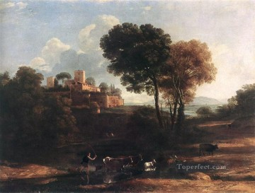 Claude Lorrain Painting - Landscape with Shepherds Claude Lorrain
