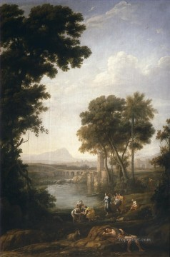 Lorrain Art Painting - Landscape with the Finding of Moses Claude Lorrain