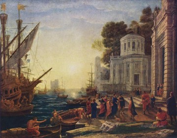 Claude Lorrain Painting - The Disembarkation of Cleopatra at Tarsus landscape Claude Lorrain