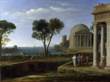 Claude Lorrain Painting - Landscape with Aeneas at Delos Claude Lorrain