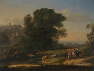 Claude Lorrain Painting - Landscape with Cephalus and Procris Reunited by Diana Claude Lorrain