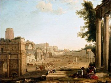 The Campo Vaccino Rome landscape Claude Lorrain Oil Paintings