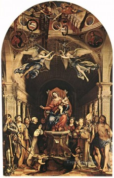 Madonna with the Child and Saints 1516 Renaissance Lorenzo Lotto Oil Paintings