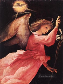 Lotto Art Painting - Angel Annunciating 1527 Renaissance Lorenzo Lotto