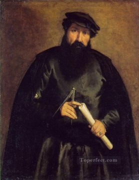 Architect 1535 Renaissance Lorenzo Lotto Oil Paintings