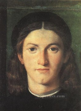 Lotto Art Painting - Head of a Young Man Renaissance Lorenzo Lotto