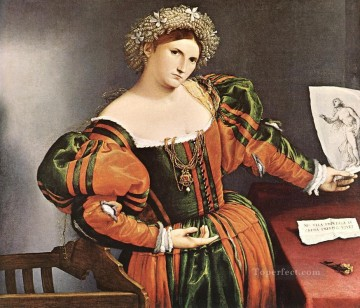 Lotto Art Painting - Lucretia 1528 Renaissance Lorenzo Lotto