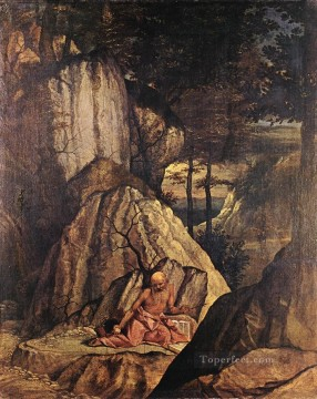 Penitent St Jerome Renaissance Lorenzo Lotto Oil Paintings