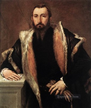 Lotto Deco Art - Portrait of Febo da Brescia 1544 Renaissance Lorenzo Lotto