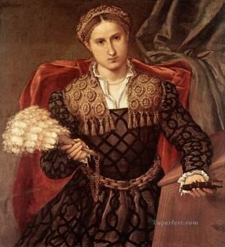 Lotto Art Painting - Portrait of Laura da Pola 1544 Renaissance Lorenzo Lotto
