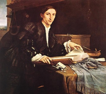 Lorenzo Lotto Painting - Portrait of a Gentleman in his Study 1527 Renaissance Lorenzo Lotto