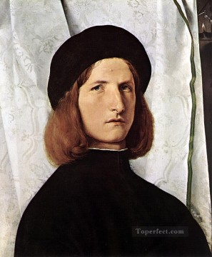 Lotto Art Painting - Portrait of a Man1 Renaissance Lorenzo Lotto
