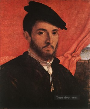Lotto Art Painting - Portrait of a Young Man 1526 Renaissance Lorenzo Lotto