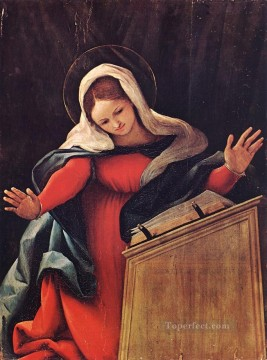 Lotto Art Painting - Virgin Annunciated 1527 Renaissance Lorenzo Lotto