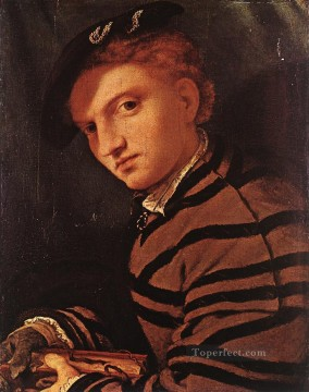 Lotto Art Painting - Young Man with Book 1525 Renaissance Lorenzo Lotto