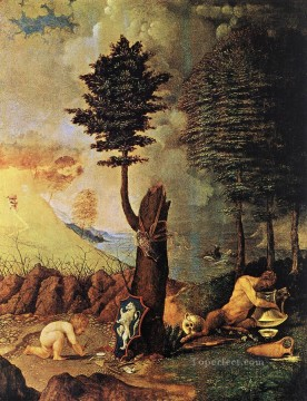 Lotto Art Painting - Allegory Renaissance Lorenzo Lotto
