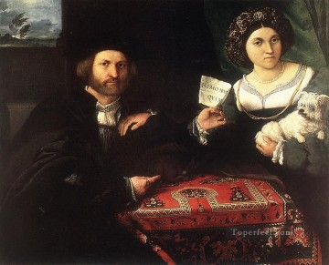 Lotto Art Painting - Husband and Wife 1523 Renaissance Lorenzo Lotto