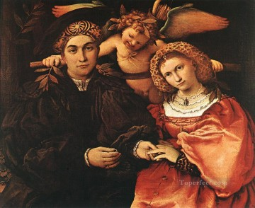 Lotto Art Painting - Messer Marsilio and his Wife 1523 Renaissance Lorenzo Lotto