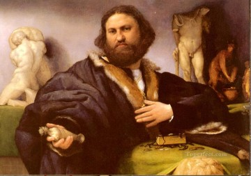 Lotto Art Painting - Portrait Of Andrea Odoni Renaissance Lorenzo Lotto