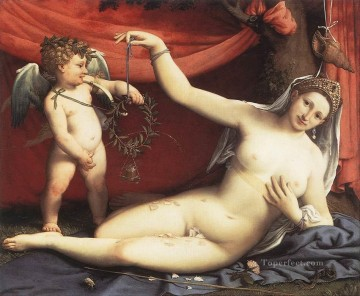 Venus and Cupid 1540 Renaissance Lorenzo Lotto Oil Paintings