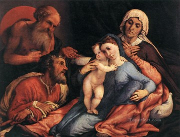 Lotto Art Painting - Madonna and Child with Saints 1534 Renaissance Lorenzo Lotto
