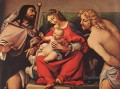 Madonna with the Child and Sts Rock and Sebastian 1522 Renaissance Lorenzo Lotto