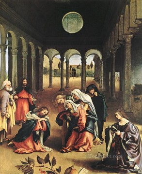 Christ Taking Leave of his Mother 1521 Renaissance Lorenzo Lotto Oil Paintings