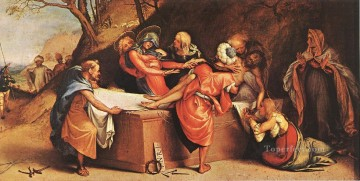 Deposition 1516 Renaissance Lorenzo Lotto Oil Paintings