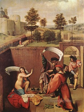 renaissance Painting - Susanna and the Elders 1517 Renaissance Lorenzo Lotto