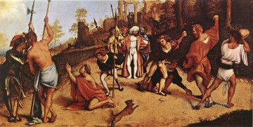 The Martyrdom of St Stephen 1516 Renaissance Lorenzo Lotto Oil Paintings