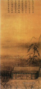 Ma Yuan Painting - banquet by lantern light old China ink