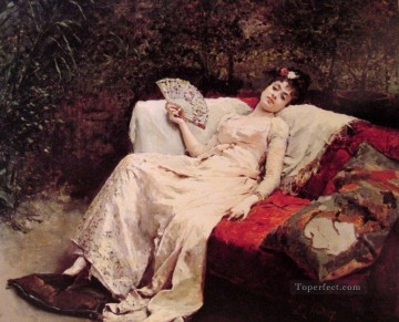 Raimundo de Madrazo y Garreta Painting - Title and date unknown realist lady Raimundo de Madrazo y Garreta