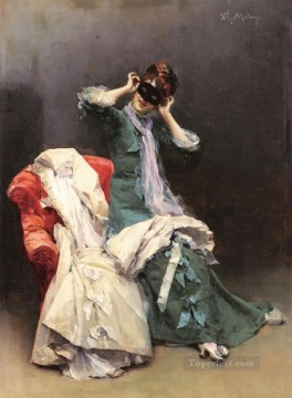 Raimundo de Madrazo y Garreta Painting - Y Preparing For The Costume Ball realist lady Raimundo de Madrazo y Garreta