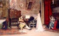 The Music Lesson realist lady Raimundo de Madrazo y Garreta