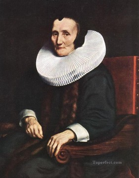 Margaretha Canvas - Portrait of Margaretha de Geer Wife of Jacob Trip Baroque Nicolaes Maes