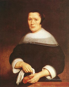 Man Works - Portrait of a Woman Baroque Nicolaes Maes