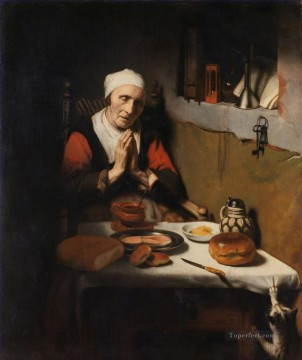 Maes Art Painting - Prayer Baroque Nicolaes Maes
