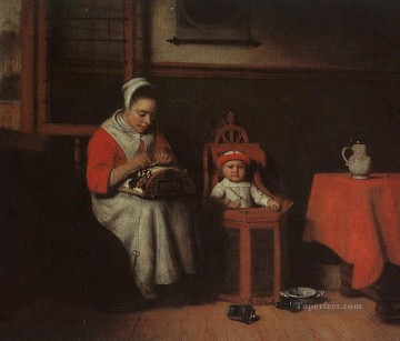 The Lacemaker Baroque Nicolaes Maes Oil Paintings