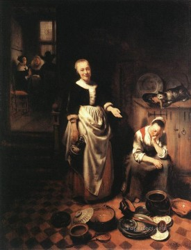 Baroque Canvas - The Idle Servant Baroque Nicolaes Maes