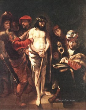 Maes Art Painting - Christ before Pilate Baroque Nicolaes Maes
