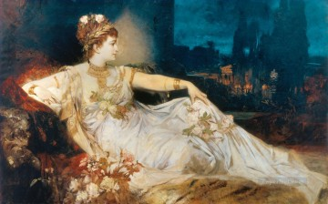 charlotte wolter als messalina Academic Hans Makart Oil Paintings