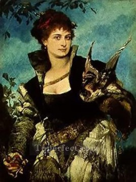 die falknerin Academic Hans Makart Oil Paintings